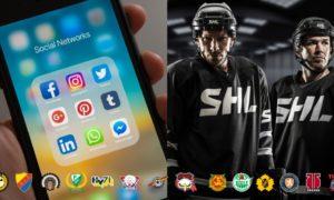 SHL lag i sociala medier